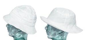 INTERNATIONAL HEADWEAR Bucket & Beanie Panel Mens Hat White Showerproof