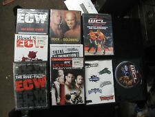 8 Different ECW MMA WCL Pride FC Fighting Wrestling Martial Arts DVD's