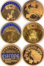 3 MONEDAS ECU EUROPA - 2000-2002