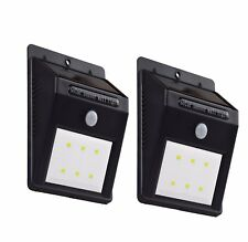 New Solar Led Lights, Outdoor Waterproof Security Motion Sensor Light 6 Led 2Pcs