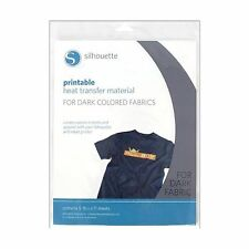 Silhouette Printable Heat Transfer Material for Dark Fabrics Free Shipping