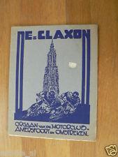 1950 CLUBBLAD DE CLAXON MOTORCLUB AMERSFOORT OKTOBER 1950
