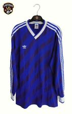 Vintage Adidas Football Shirt L Blue 1987 Yugoslavia West Germany Jersey Trikot