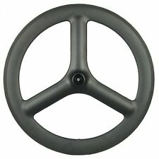 Carbon TT/Triathlon Tri-Spoke Front Wheel - Tubular - UK SELLER / UK STOCK