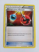 Carte pokémon dresseur récupération d'énergie 92/114 peu commune noir et blanc