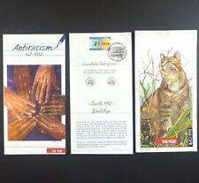 3 Vtg 1990s Belgium Post Office Pamphlets Seville World Fair & Others