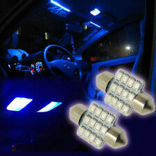 "2pcs Blue 1.25"" 31mm 12SMD DE3175 DE3022 LED Bulb For Car Interior light Lamp"