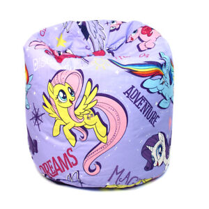 Kids Purple My Little Pony The Movie Bean Bag Children Girls Seat Chair