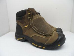 """Keen MEN'S MT VERNON 6"""" BOOT MET STEEL TOE Work Boot CASCADE BROWN Size 14D"""