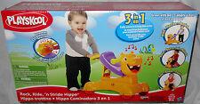 Playskool Rock, Ride, n Stride Hippo Toy With Sound & Music MIB Preschool Hasbro