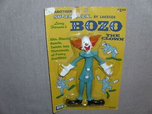 VINTAGE BOZO THE CLOWN SUPER FLEX BENDY BY LAKESIDE TOYS BRAND NEW MOC 1966