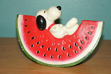 SNOOPY Ceramic Watermelon Bank - Peanuts United Feature Syndicate