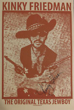 Kinky Friedman Wanted Poster - Reprint - Signed