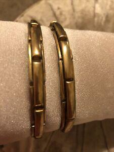 Vintage ARMBANDS Gold Sleeve Holders Garter ART DECO Banker Peaky Blinder (f)