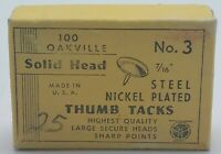 "Vintage Oakville Thumb Tacks Solid Large Head, No, 3  7/16"""