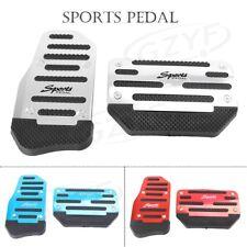 2x Car Automatic Brake Foot Pegs Sport Pedals Aluminum Anti-slip Red/Blue/Gray