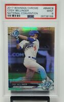 2017 Bowman Chrome National Conv CODY BELLINGER Refractor Rookie Card PSA 9 MINT