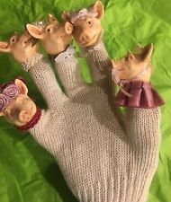 Katherine's Collection Retired & Rare Pig Finger Hand Puppet Glove