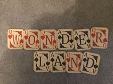 Alice In Wonderland Playing Card  Bunting/banner decoration