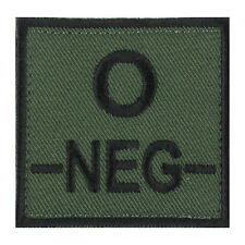 �‰CUSSON PATCH GROUPE SANGUIN O- / O NEG / O N�‰GATIF avec DOS AUTO-AGRIPPANT