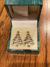 Suzanne Somers Collection Christmas Tree Earrings Mint In Box