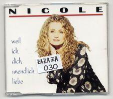 Nicole Maxi-CD Weil Ich Dich Unendlich Liebe - 3-track CD - deutscher schlager