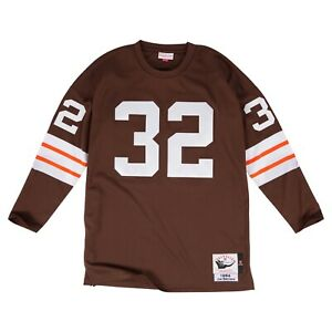 Cleveland Browns Jim Brown Mitchell & Ness 1964 Long Sleeve Authentic Jersey