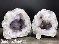 6Lb Museum Quality Lavender Amethyst GEODE Quartz Whole Pair Crystal Kentucky