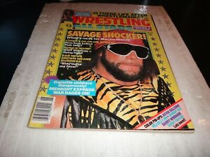 Wrestling all stars magazine february 1988 no 21 sting butch reed  colour poster