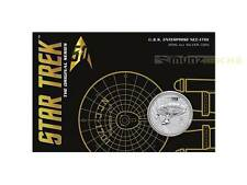 1 $dólares Star Trek U.S.S. Enterprise ncc-1701 Tuvalu 1 Oz plata blister 2016