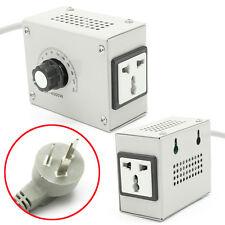 UK-Stecker AC 220V Verstellbar Temperatur Dimmer Spannung Drehzahlregler