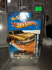 HOT WHEELS 2012 Super Treasure Hunt 67 Ford Mustang Coupe w/ Car Protector