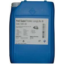 Aral SuperTronic LongLife 3 III 5W-30 20 Liter Motoröl Motorenöl VW Audi BMW