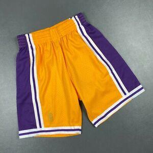 100% Authentic Mitchell Ness 96 97 Lakers Swingman Shorts S 36 Mens kobe bryant