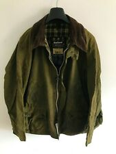 Mens Barbour Bedale wax jacket Olive Green coat 52in size 2XL/3XL Overcoat