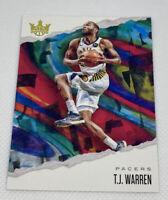 2019-20 Panini Court Kings T.J. Warren Indiana Pacers #62
