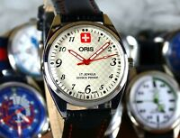 VINTAGE ORIS Men's Watch. Hand Winding, Gray/White Dial, 17jewel, Swiss Made