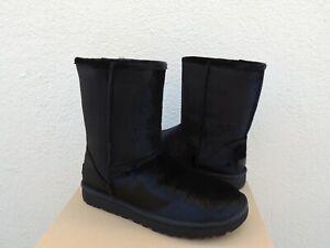 UGG BLACK CLASSIC SHORT VELVET/ WOOL BOOTS, WOMEN US 11/ EUR 42 ~ NIB