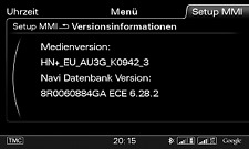 Mise à jour GPS - MMI 3G Plus / 3G+ - Audi (A4-A5-Q5-Q7) - 2019-20 (6.29.1)