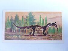 Brooke Bond Prehistoric Animals tea card 9. Mandasuchus. Dinosaurs.