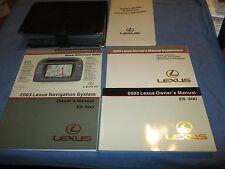 2003 LEXUS ES300 OWNERS MANUAL ES 300 SET WITH NAVIGATION & CASE NEW