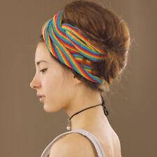 Rainbow Nepalese Large Double Wrap Extra Long Cotton Headband Hippy Boho Dreads