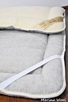 GREY ORTHOPEADIC THICK Merino Wool PERUGIANO Natural Mattress Topper Pad *New*