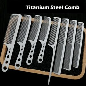 Titanium Steel Comb Professional Salon Thin Hair Hairdressing Barber Anti Static