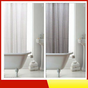 3D PEVA WATERPROOF SHOWER CURTAIN HANGING WITH RINGS GREY OR WHITE 180x180cm