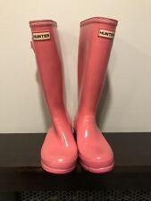 Hunter Original Tall Pale Pink Pull On Rain Boots US 4M/5F