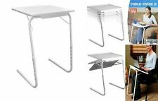FOLDING PORTABLE TV DINNER DESK SERVING TRAY TABLE MATE TRAY LAP TRAY ADJUSTABLE
