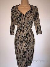 BNWT Savoir Confident Curves Secret Support Brown Wrap Effect Dress Size 16