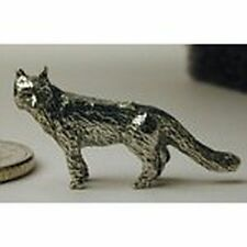 Dollhouse Miniature Pewter Figurine of a Fox