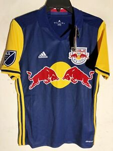 ADIDAS MLS TEAM JERSEY NEW YORK RED BULLS NAVY SZ M